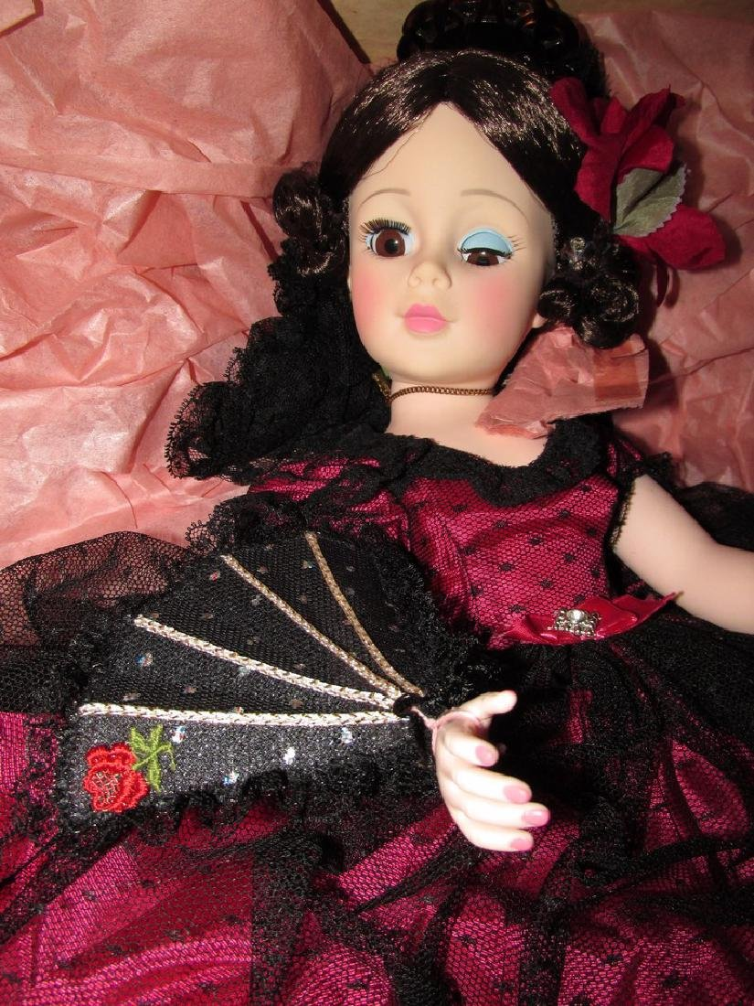 Goya – dressed in red satin with black lace overlay, - 2