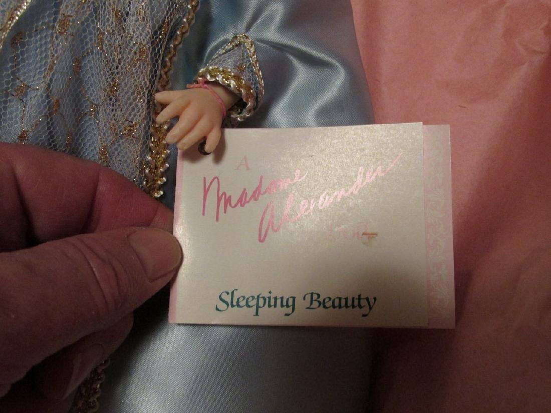 Sleeping Beauty  - light blue dress with gold net over - 3