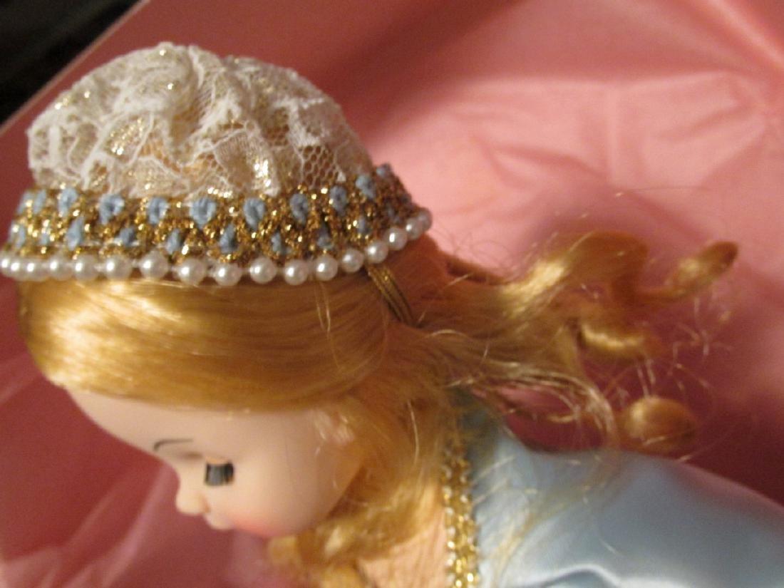 Sleeping Beauty  - light blue dress with gold net over - 4