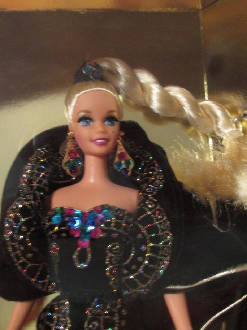 Midnight Gala Barbie – black velvet gown with metallic - 2