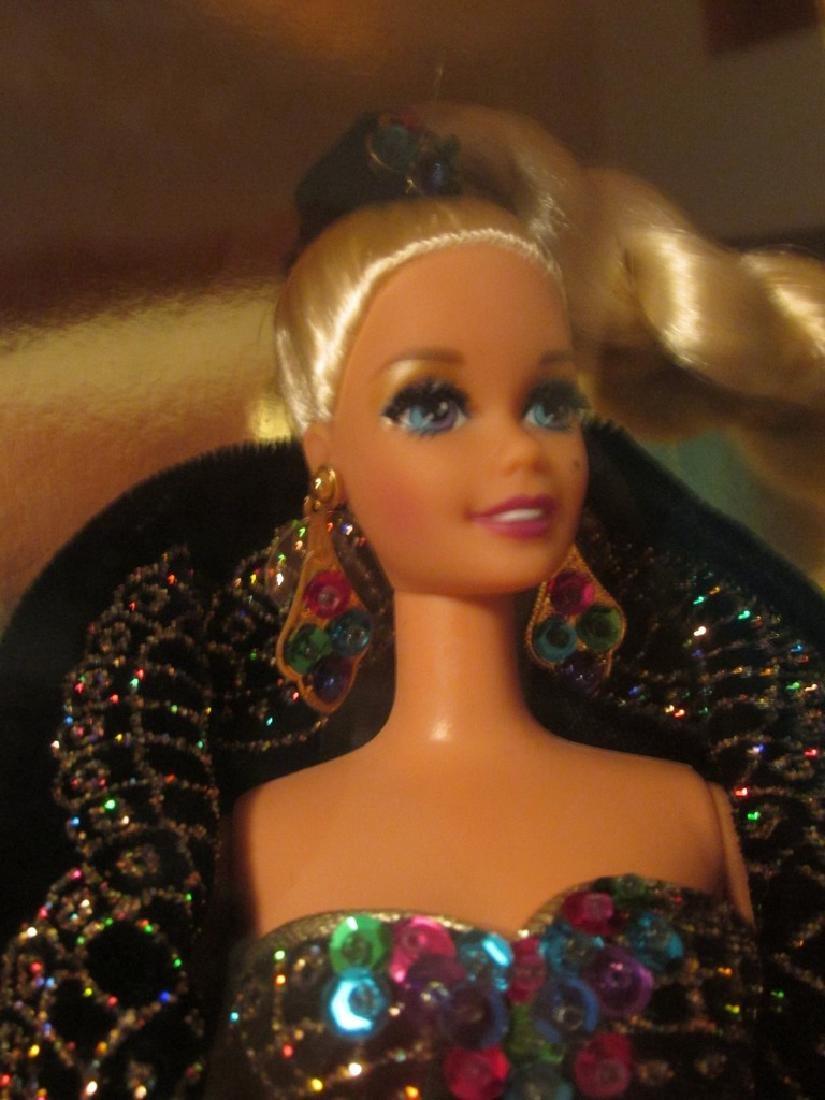 Midnight Gala Barbie – black velvet gown with metallic - 3