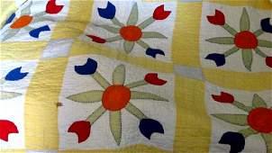 East Tenn. Cotton Tulip Floral Quilt