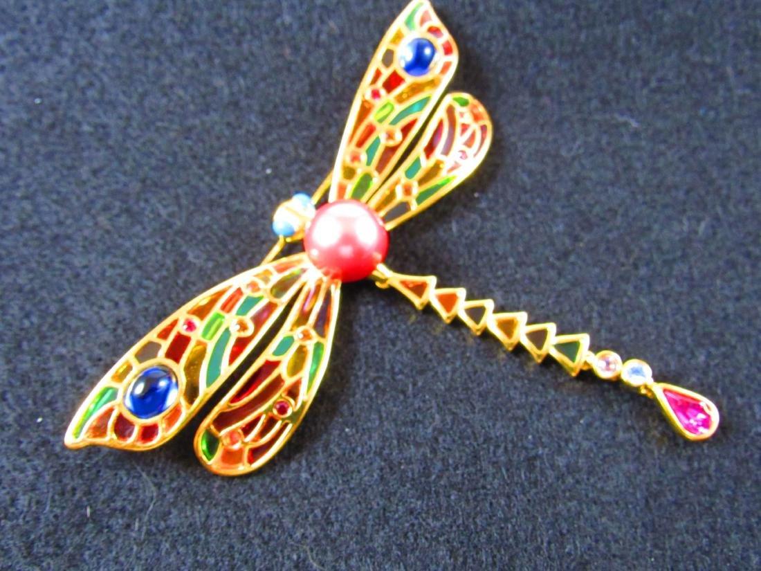 Joan Rivers dragonfly brooch