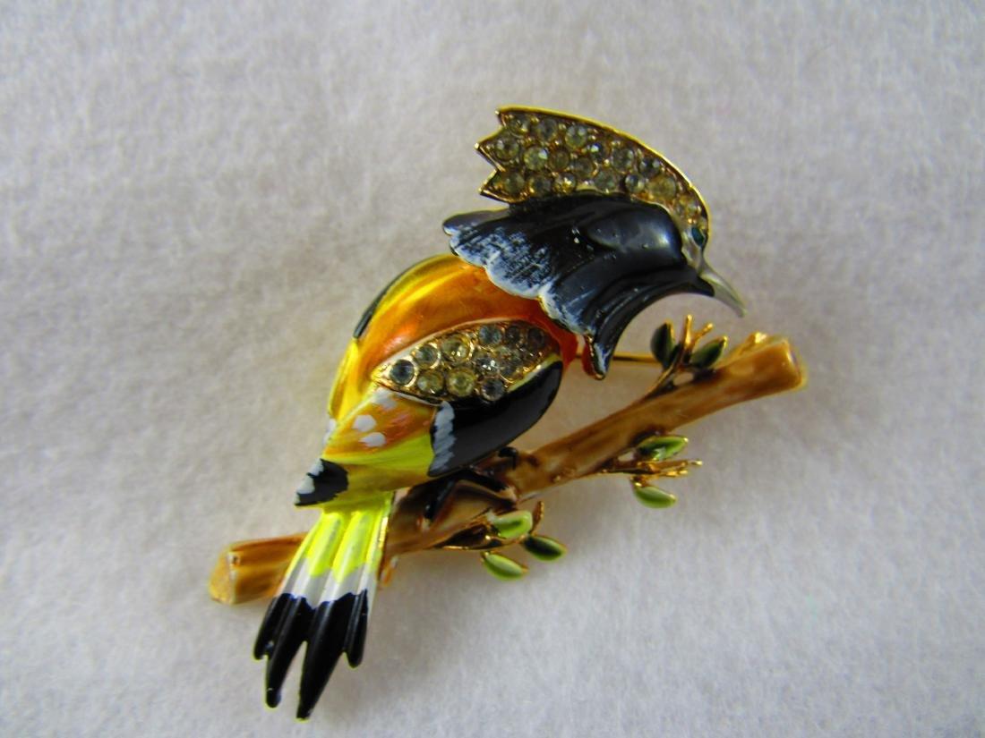 Corocraft trembler bird brooch