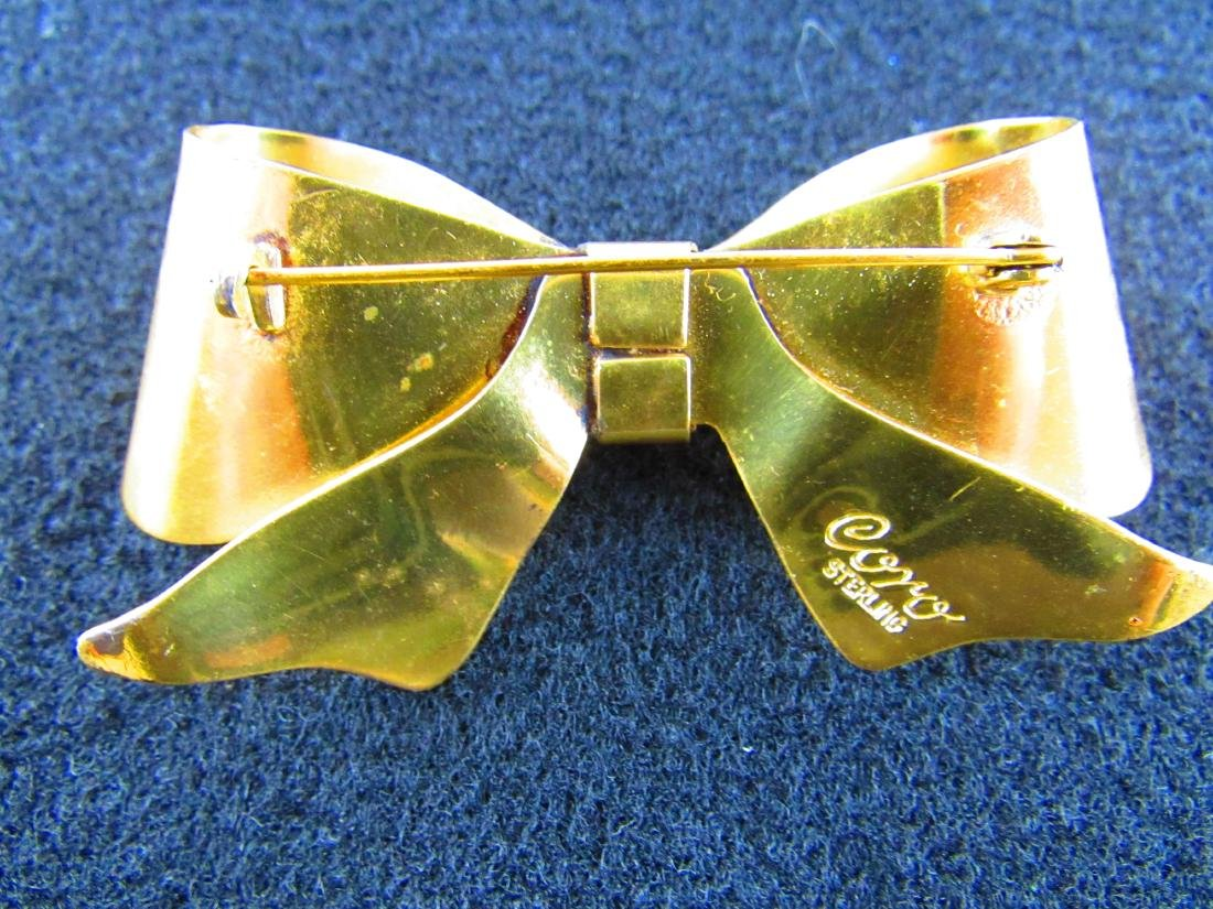 Coro sterling Bow Brooch