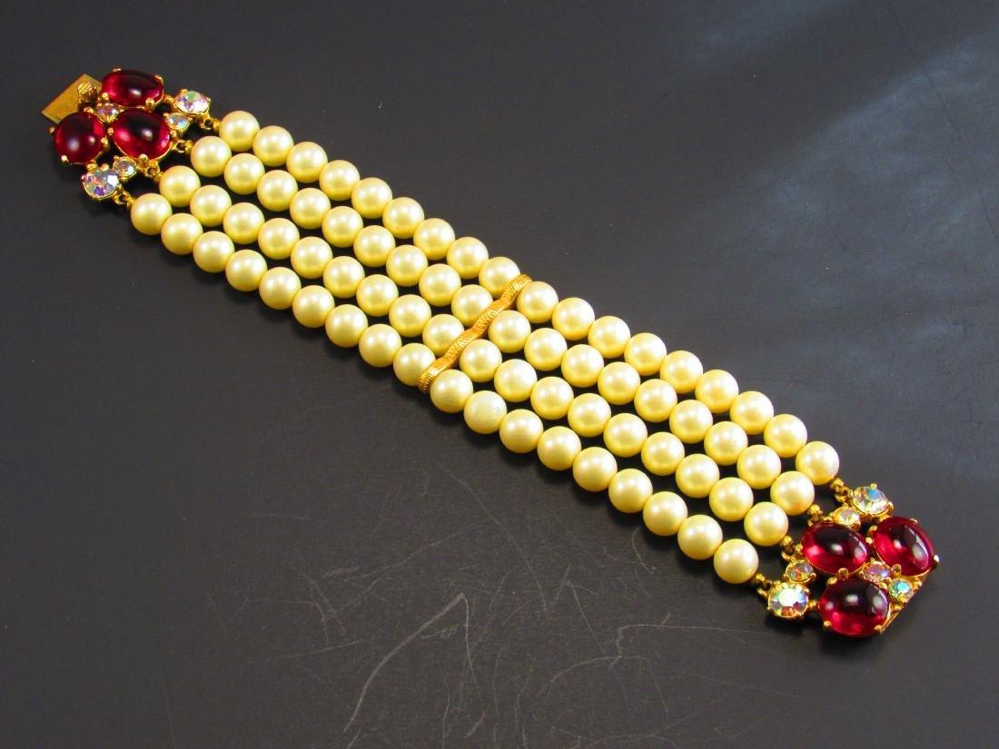 Schiaparelli wide pearl bracelet