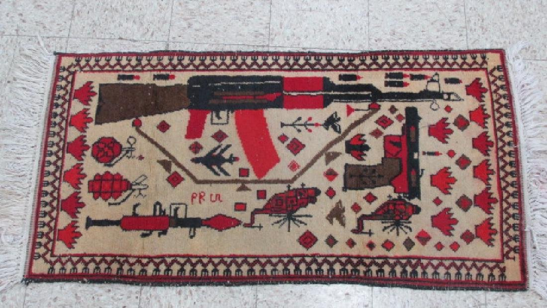 Afghan Weaponized War Prayer Rug