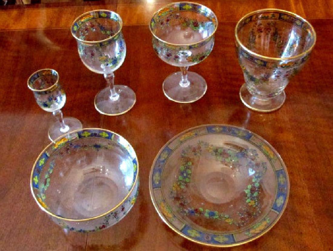Moser Style Stemware & Finger Bowls