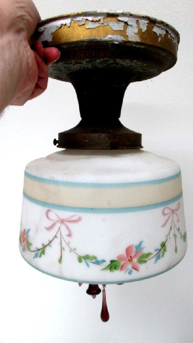 Hand Painted 1930s Deco Ceiling Lamp