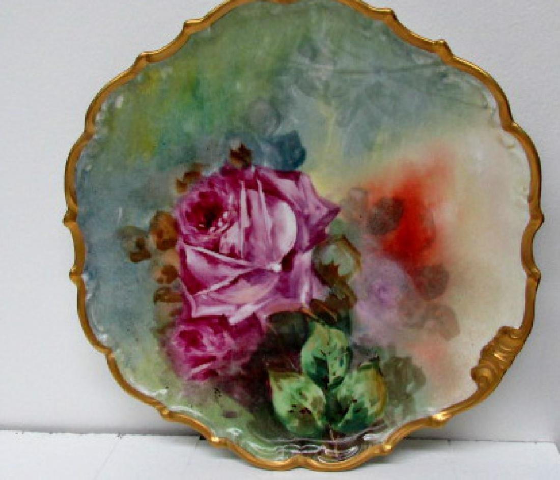 Lushly Painted Roses Charger