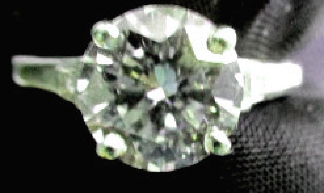 2.48 Carat H/I VS2 Platinum Ring
