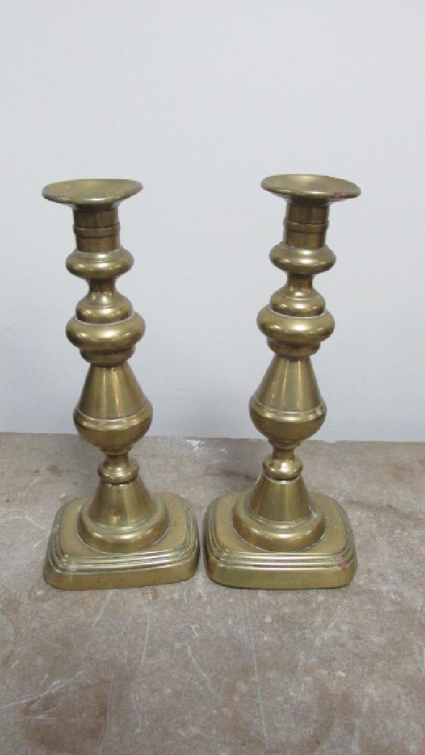 Pr. Brass 19th Cent. Brass Candlesticks