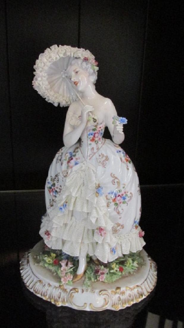 Figure of Lady w/Parasol