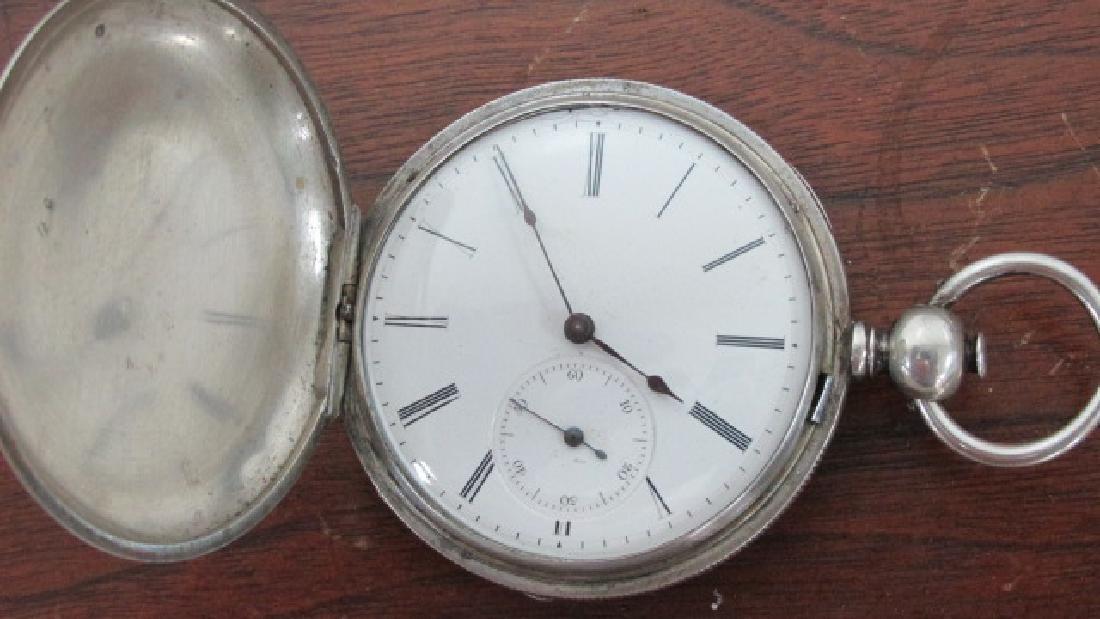 Silver Hunting Case Key Wind & Set Pocket Watch