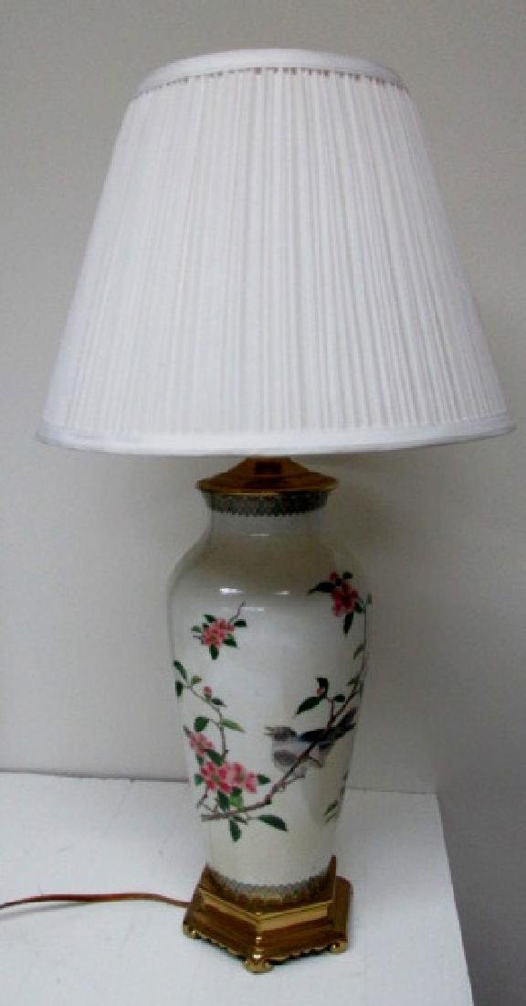 Bird Motif Porcelain Table Lamp