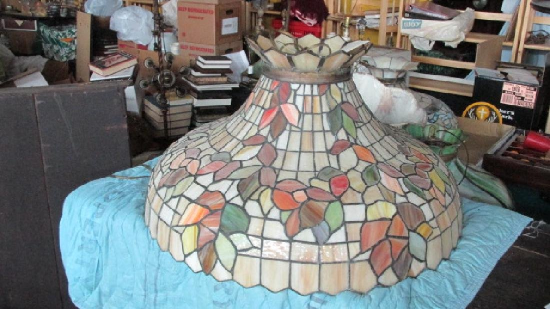 1910 Leaded Glass Ceiling Fixture