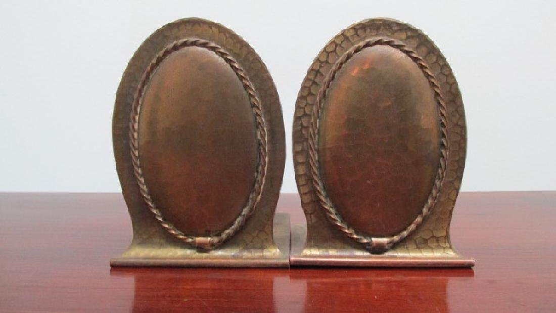 Roycroft Copper Bookends Arts & Crafts