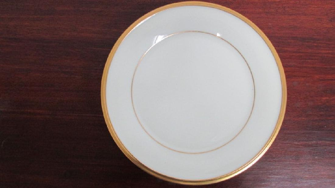 "Lenox Eternal 6 1/2"" Gold Band Salad Plates"