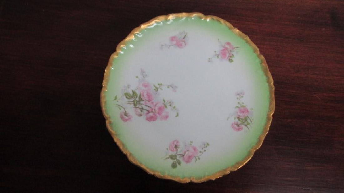 "T & V French Hand Painted 8 1/2"" Plates"
