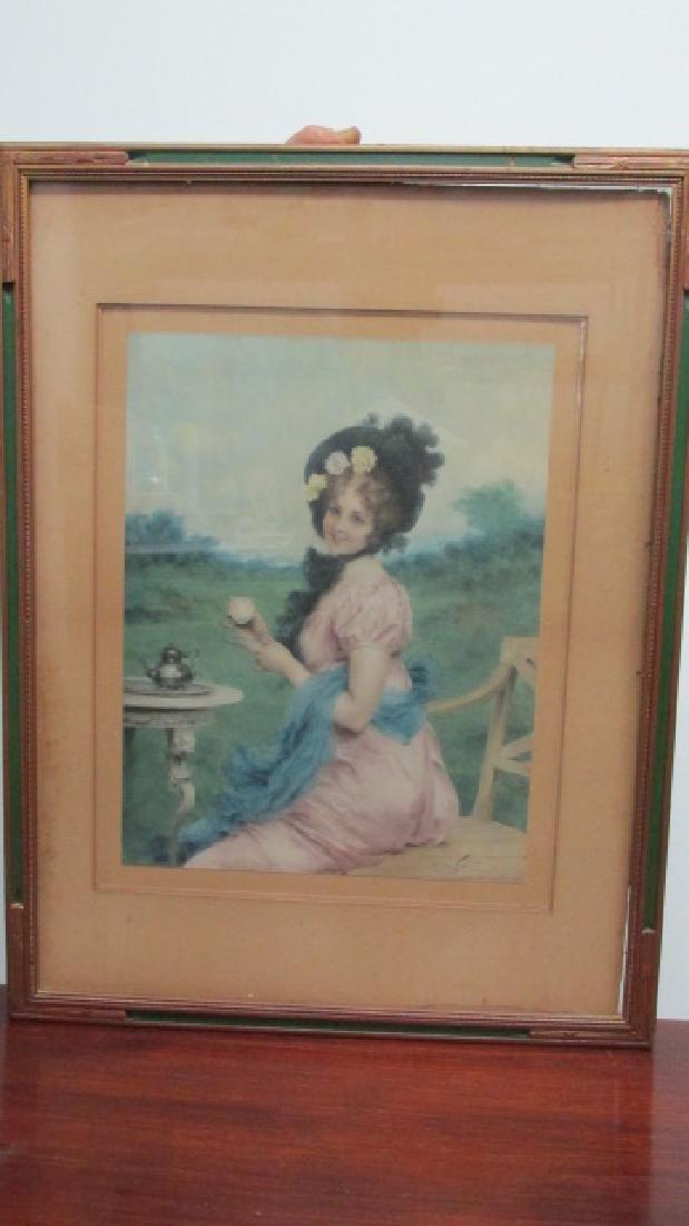 F. Vinea Firenze Lady Having Tea W/C