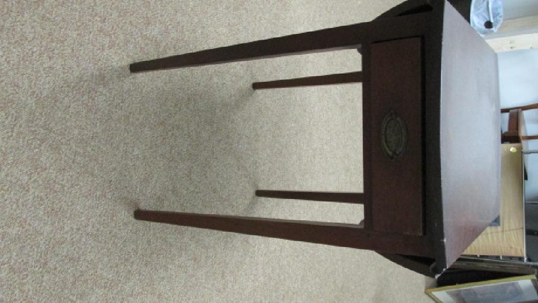 1930s Mahogany Drop Leaf End Table - 2