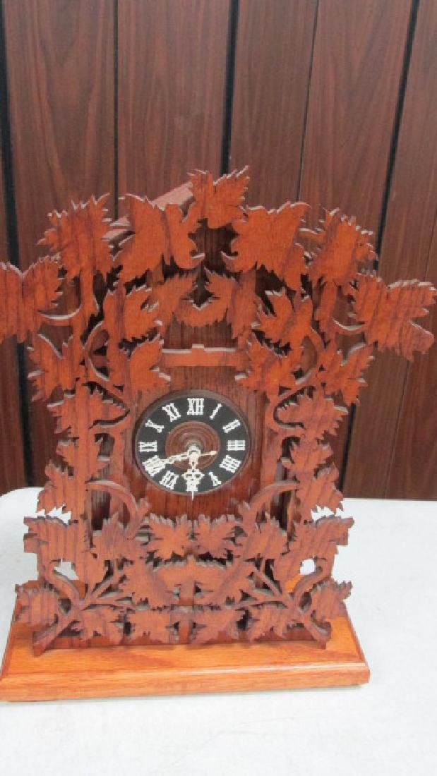 Ornately Scroll Cut Mantle Clock