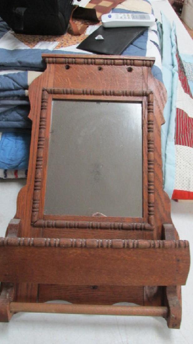 Oak Wall Shaving Mirror 1910