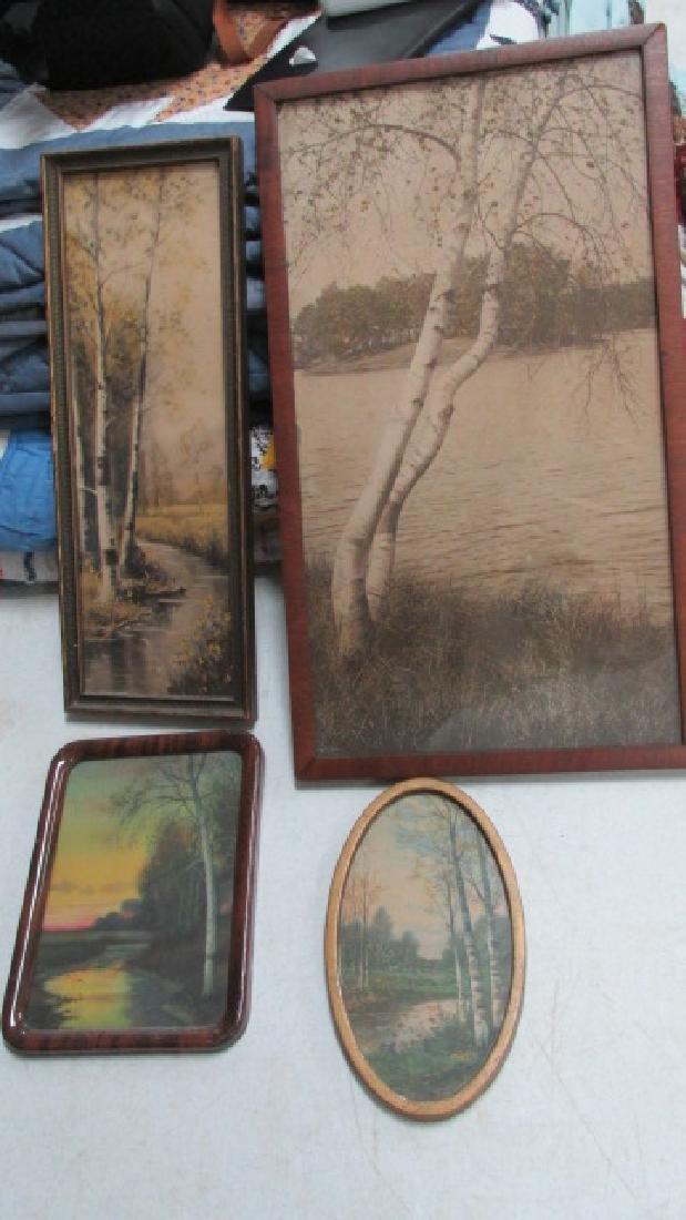 4 Birch Bark Prints