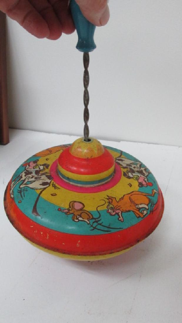 Tin Ohio Art Toy Top - 4