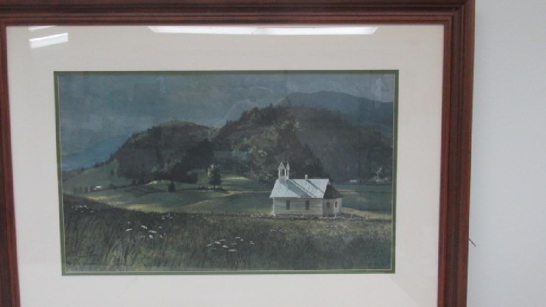 John Chumley Mountain Church Print