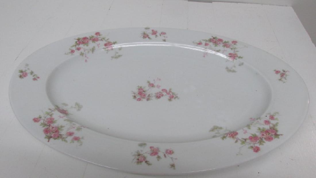 Austrian Floral Oval Platter 1900