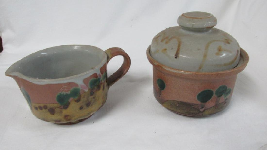 Iron Mountain Tn Pottery Creamer & Sugar