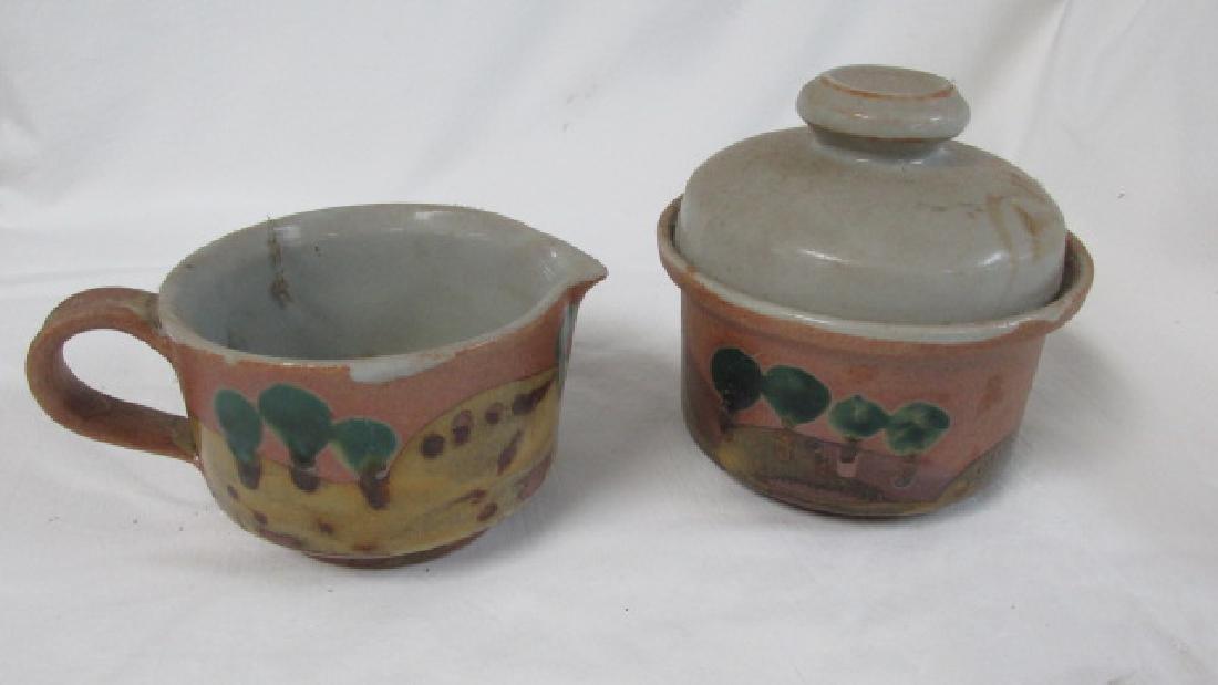 Iron Mountain Tn Pottery Creamer & Sugar - 4
