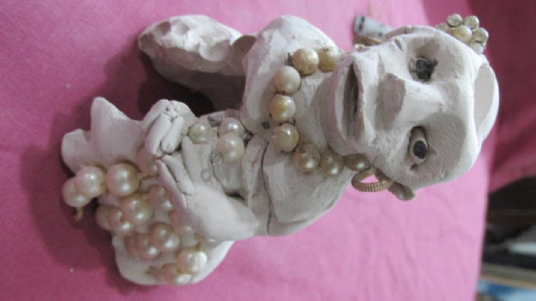 Bessie Harvey Pottery Figure of Woman