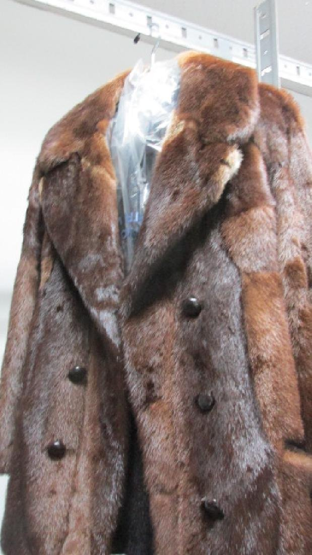 Men's Mink Pea Jacket Fur Coat