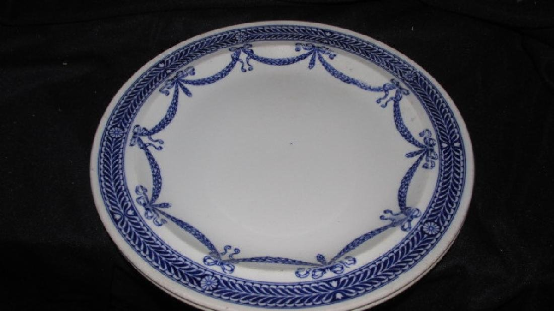 3 Wedgwood 19th Cent Plates Harvard Pattern