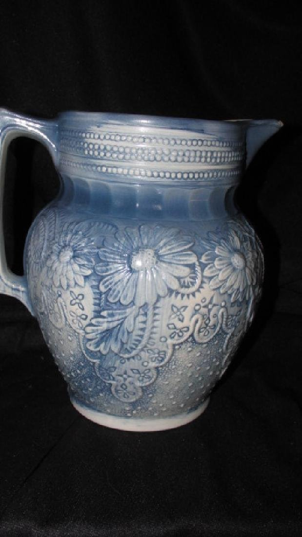 Pottery Blue & White Pitcher