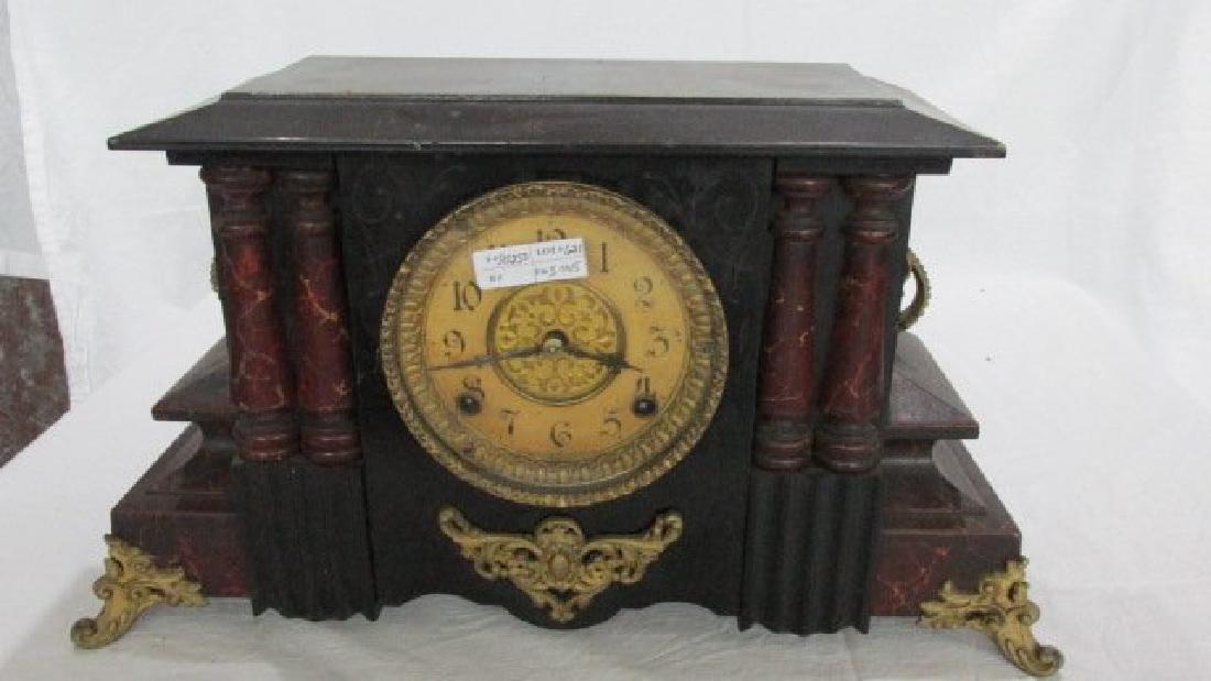 Gilbert Black Lacquer Mantle Clock