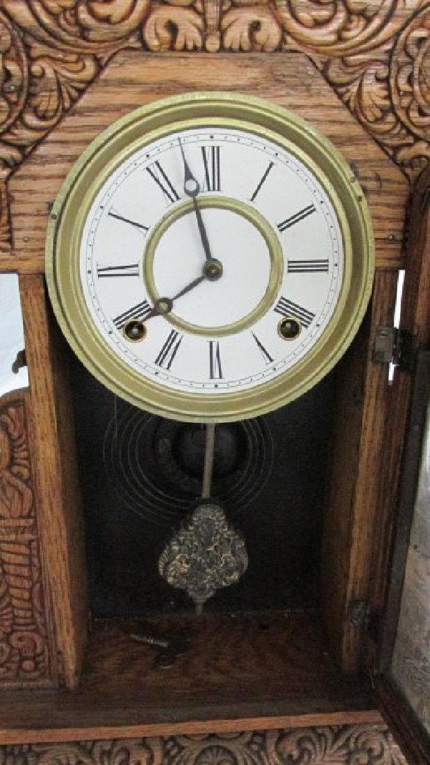 Ingraham Oak Kitchen Clock - 4
