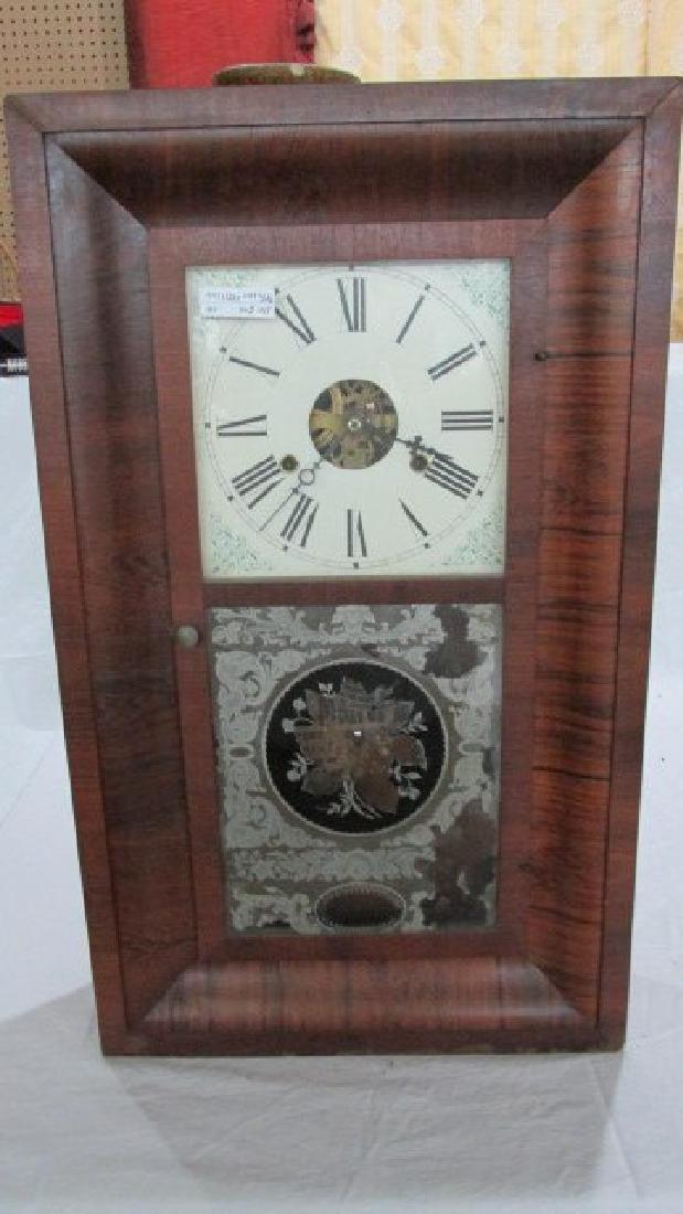 Gilbert Ogee Mahogany Mantle Clock
