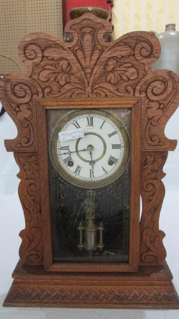 Oak Kitchen Clock Ca. 1890