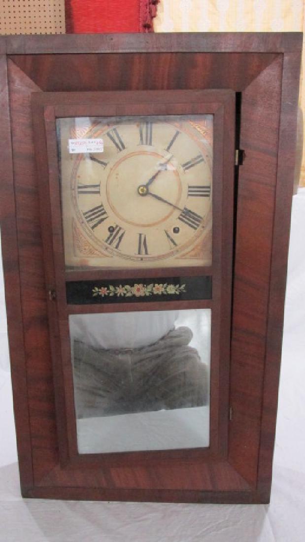 John Bacon 1838 Ogee Wooden Works Mantle Clock