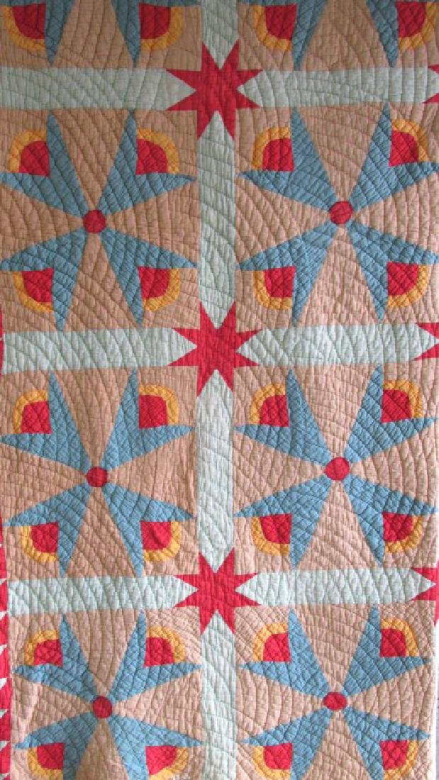 Star & Floral 1930s Quilt East Tn.