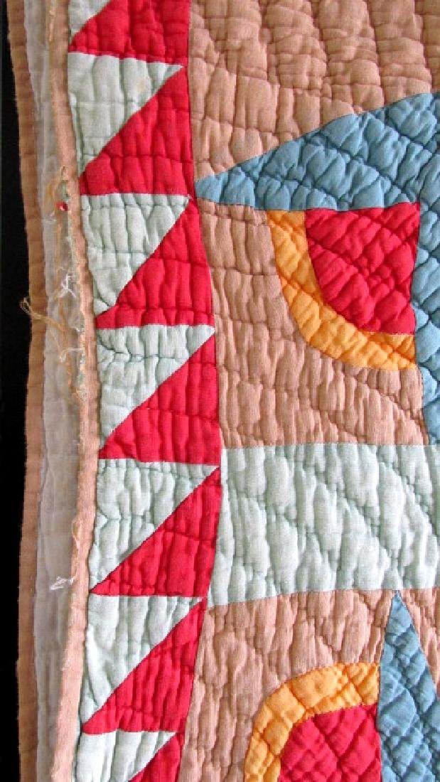 Star & Floral 1930s Quilt East Tn. - 6