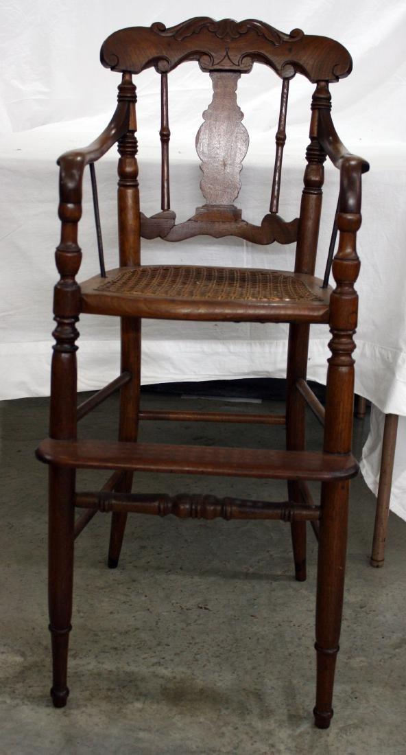 Walnut Victorian High Chair