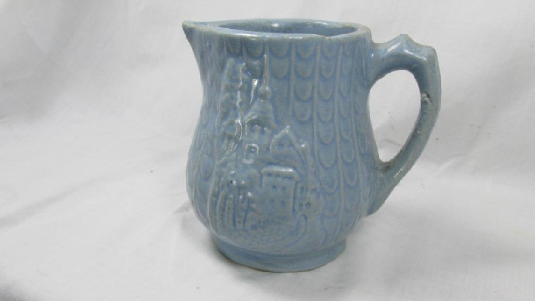 Monastery or Castle & Fish Scale Cream Pitcher