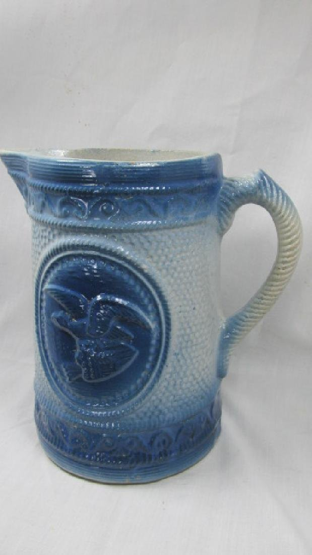 Buttermilk Blue Eagle w/Arrows In Claws Pitcher