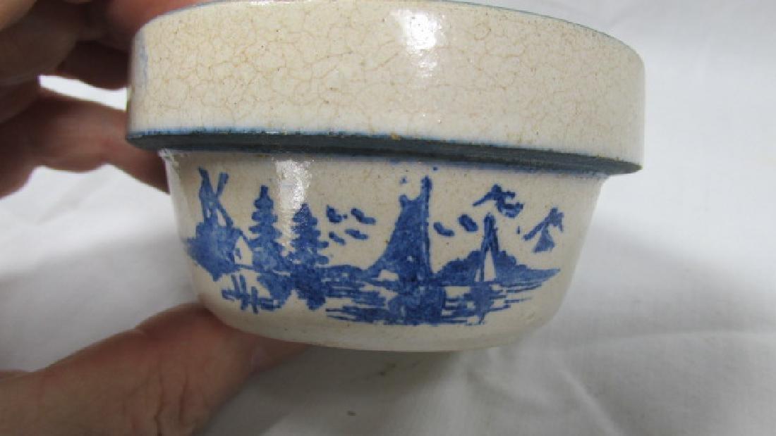 Miniature Mixing Bowl w/Windmill Scene
