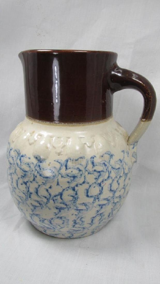 Complements of Harley Furniture Adv. Spongeware Pitcher