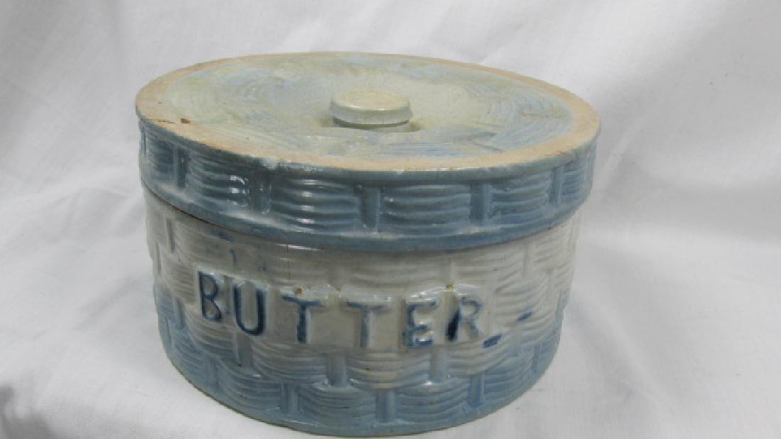 Basket Weave Butter Covered Crock
